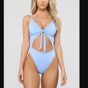 NWT Fashion Nova Royally Tied One Piece Swimsuit